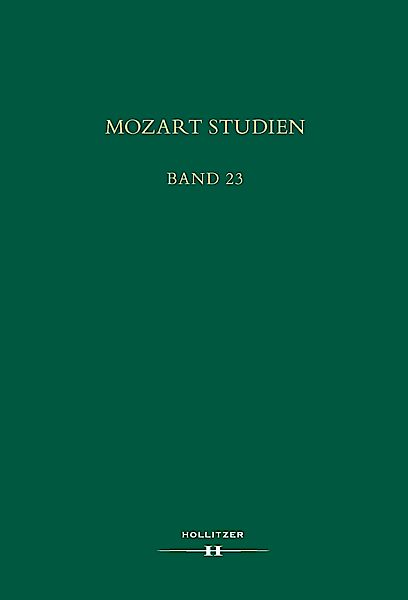 Cover Mozart Studien Band 23