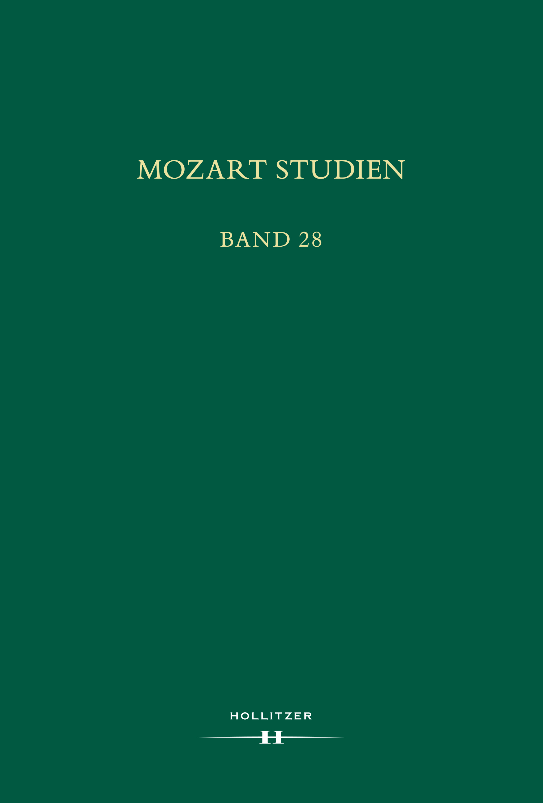 Cover Mozart Studien Band 28